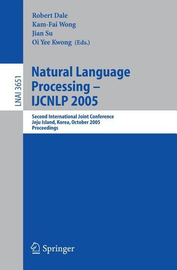 Natural Language Processing     IJCNLP 2005 PDF