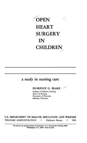 Open Heart Surgery in Children
