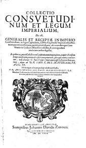 Collectio consuetudinum et legum imperialium (etc.)