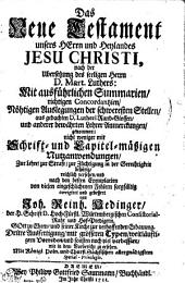 Das Neue Testament unsers HErrn und Heylandes JESU CHRISTI