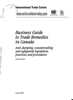 Business Guide to Trade Remedies in Canada PDF