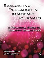 Evaluating Research in Academic Journals PDF