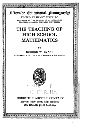 The Teaching of High School Mathematics