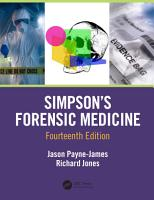 Simpson s Forensic Medicine  14th Edition PDF