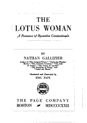 The Lotus Woman: A Romance of Byzantine Constantinople