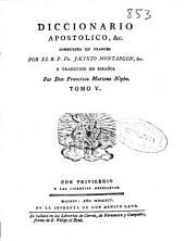 Diccionario apostolico ...: Volumen 1