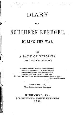 Diary of a Southern Refugee PDF