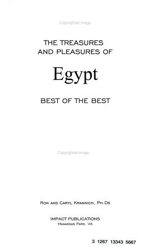 The Treasures and Pleasures of Egypt