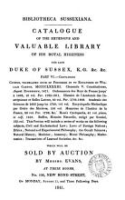 Bibliotheca Sussexiana  The     library of     the late duke of Sussex     which will be sold by auction PDF