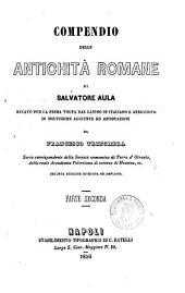 Compendio delle antichita romane di Salvatore Aula: Volume 2