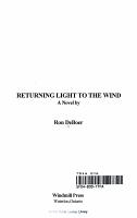 Returning Light to the Wind PDF