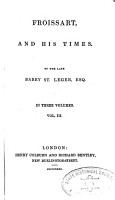 Froissart and his times  ed  by S B    PDF