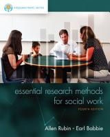 Empowerment Series  Essential Research Methods for Social Work PDF