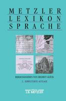 Metzler Lexikon Sprache PDF
