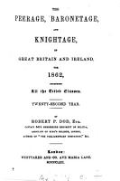 The Peerage  Baronetage  and Knightage of Great Britain and Ireland for     PDF