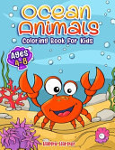 Ocean Animals Coloring Book For Kids Ages 4-8