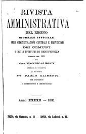 Rivista amministrativa del regno: Volume 42