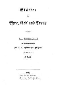 Bl  tter der Ehre  Lieb  und Treue PDF