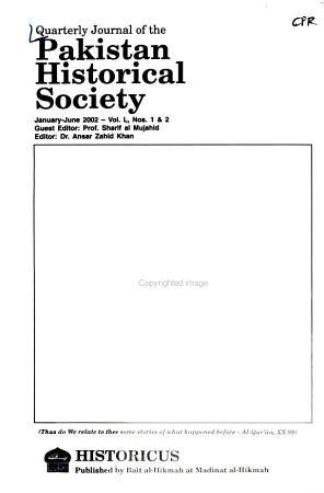 Journal of the Pakistan Historical Society PDF
