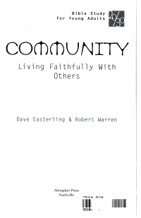 20 30 Bible Study for Young Adults Community PDF