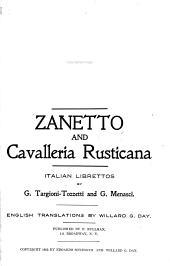 Zanetto ; And, Cavalleria Rusticana