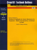 Studyguide for Vector Mechanics for Engineers PDF