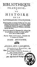 Biblioth  que fran  oise ou Histoire de la litt  rature fran  oise PDF