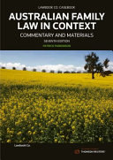 Australian Family Law in Context  Commentary and Materials PDF