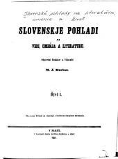 Slovenské pohlady na literatúru, umenie a život: Svazky 1–4
