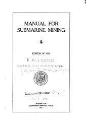 Manual for Submarine Mining