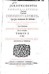 *Iurisprudentia Romana et Attica: continens varios commentatores, ...: 1: Tomus 1. in quo Francisci Balduini, JCti, Opuscula omnia, Τόμος 1