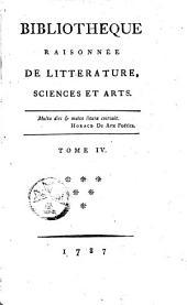 Bibliothèque raisonnée de littérature, sciences et arts