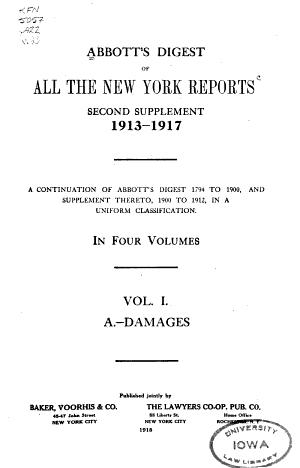 Abbott's Cyclopedic Digest