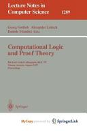 Computational Logic and Proof Theory