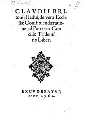 De vera ecclesiae constituendae ratione, ad Patres in concilio Tridentino liber
