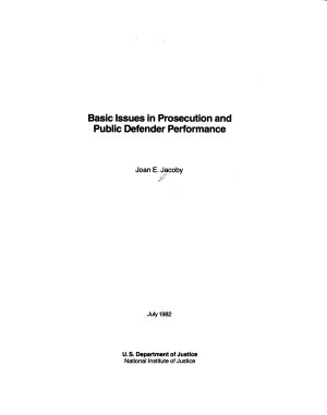 Basic Issues in Prosecution and Public Defender Performance PDF