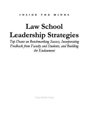 Law School Leadership Strategies