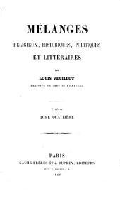Mélanges religieux, historiques, politiques et littéraires: Volume10