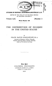The Distribution of Incomes in the United States