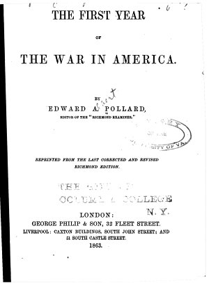 The First Year of the War in America PDF