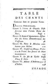 L' Iliade: traduction nouvelle dedie au roi : avec des notes Notes Géograhiques, Historiques & Liettérales...