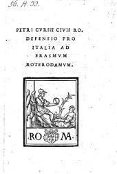 Defensio pro Italia ad Erasmum Roterodamum