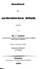 Die specielle Pathologie und Therapie: vom klinischen Standpunkte aus bearb, Band 3