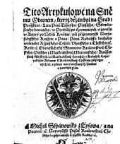 Tito Artykulowe (Artykule) na Snemu Obecnem ... na Hrade Prazskem