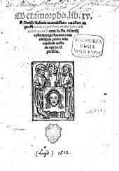 Metamorphosis libri XV.