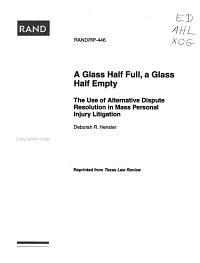 A Glass Half Full, a Glass Half Empty