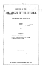 Annual Reports of the Department of the Interior ...