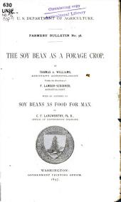 The soy bean as a forage crop
