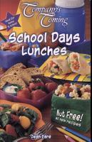 School Days Lunches PDF