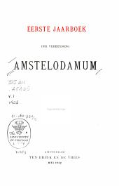 Maandblad Amstelodamum: Volume 1